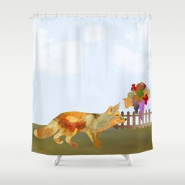 The Fox and the Vineyard Shower Curtain