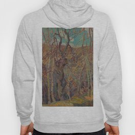 Canadian Landscape Oil Painting Franklin Carmichael Art Nouveau Post-Impressionism Silvery Tangle Hoody