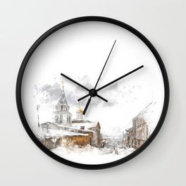 Russian landscape Wall Clock