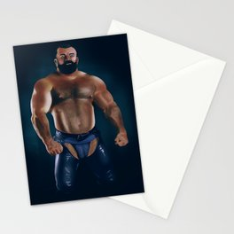 Muscle bear Stationery Cards