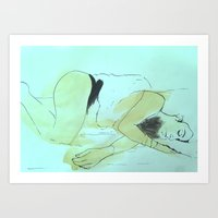 Vicki Sleeps Art Print