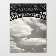 Black Lace of Eiffel Tower Canvas Print