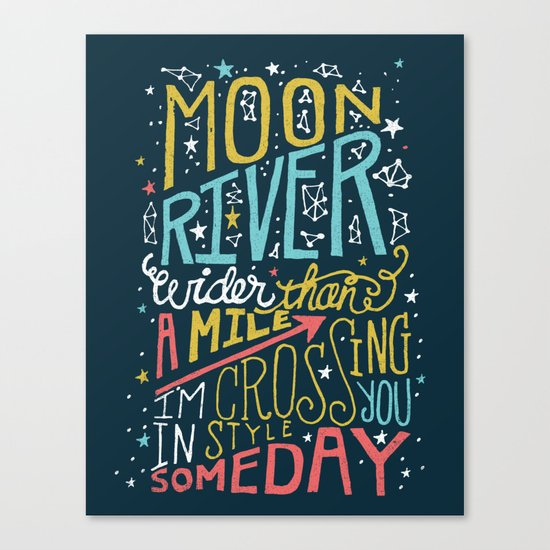 MOON RIVER Canvas Print