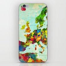Europe Splatter Map iPhone & iPod Skin