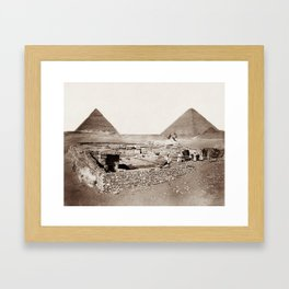 The Great Sphinx and Pyramids - 1867 Framed Art Print