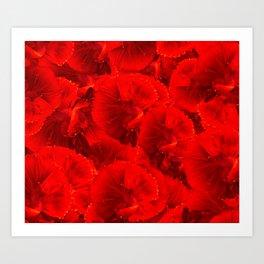 Bright Red Orange Goldfish Pattern Art Print