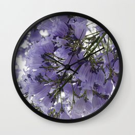 It's Raining Purple Cups Wall Clock