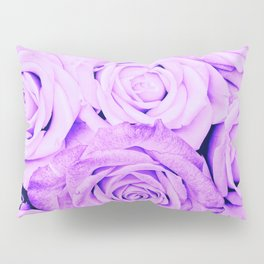 Some people grumble - Floral Ultra Violet Rose Roses Flowers Pillow Sham