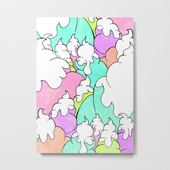 Ice cream peaks Metal Print