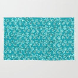 Blue Scribbles Pattern 01 Rug