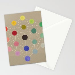 Colour cube (black point), Manual of the science of colour by W. Benson, 1871, Remake, vintage wash Stationery Cards