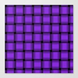 Large Violet Weave Canvas Print
