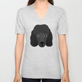 Ellie The Black Poodle Unisex V-Neck