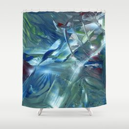 Space is the place Shower Curtain