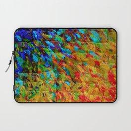 COLLISION COURSE - Bold Rainbow Splash Bricks Urban Jungle Ocean Waves Nature City Acrylic Painting Laptop Sleeve