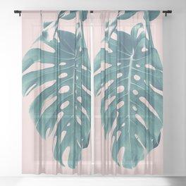 Monstera Delight #3 #tropical #decor #art #society6 Sheer Curtain