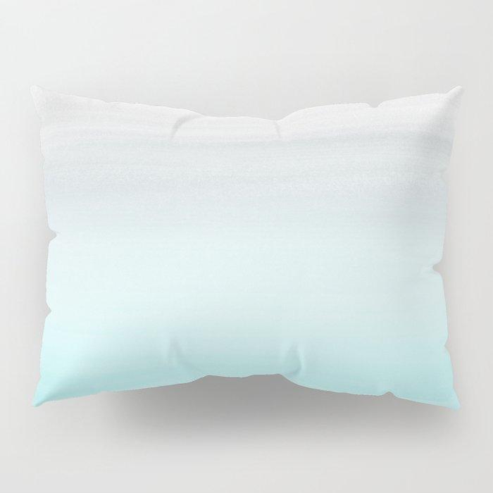 Touching Aqua Blue Gray Watercolor Abstract #1 #painting #decor #art #society6 Pillow Sham
