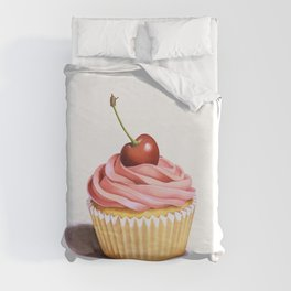 The Perfect Pink Cupcake Duvet Cover