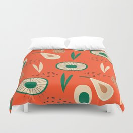 Abstract with pears Duvet Cover