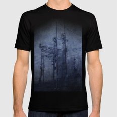 Electricity in the mist Black X-LARGE Mens Fitted Tee