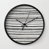 lace Wall Clocks featuring Lace by Anita Ivancenko