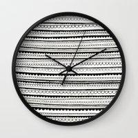 lace Wall Clocks featuring Lace by Anita Ivancenko