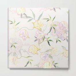 Pastel Hydrangea Metal Print