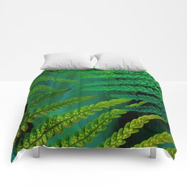 Forest Fern Green Comforters