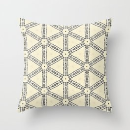 Words and Patterns Throw Pillow