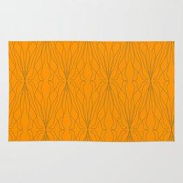 shape orange pattern Rug