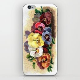 Vintage Pansies iPhone Skin