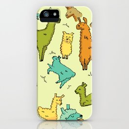 Llots of Llamas iPhone Case
