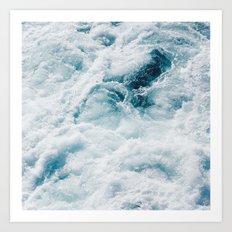 sea - midnight blue storm Art Print