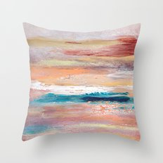 Rock Study in Pinks Throw Pillow