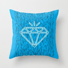 diamond cyan Throw Pillow
