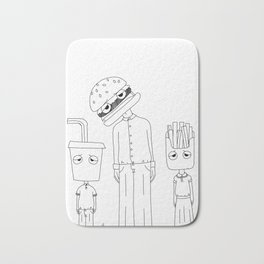 cheeseburger family Bath Mat