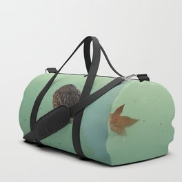 Peaceful Afternoon Siesta - duck napping on the water Duffle Bag