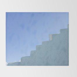 Steps in Santorini Throw Blanket