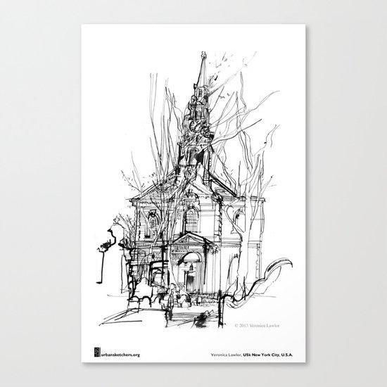 """Veronica Lawlor, """"St. Paul's Chapel"""" Canvas Print"""