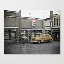 Cafe Casa Loma, Vancouver, BC 1940's Canvas Print