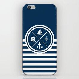 Sailing symbols iPhone Skin