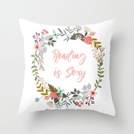 Reading is Sexy Throw Pillow