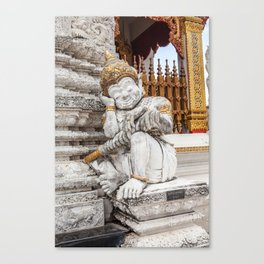 sleeping guardian of the temple Canvas Print