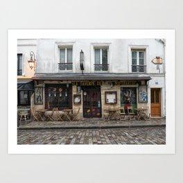 Cafe in Monmartre Paris Art Print
