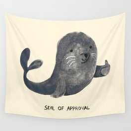 Seal Of Approval Wall Tapestry