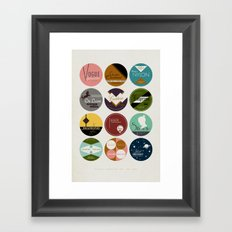 Vintage Typewriter Tin Lids: 1950-1960 Framed Art Print