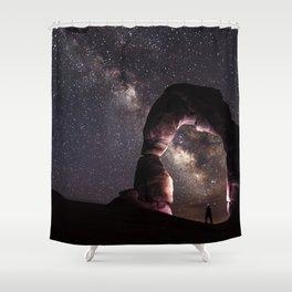 Watching stars Shower Curtain