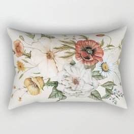 Wildflower Bouquet Rectangular Pillow