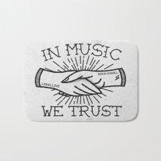 In Music We Trust Bath Mat