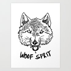 Woof Sprit! Art Print